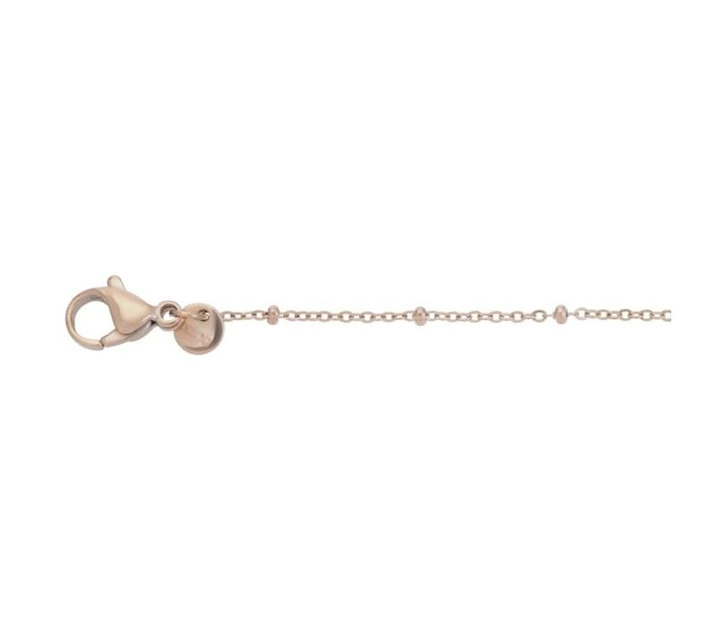 Halskette Collier Slim Ball 50+5cm rosegold