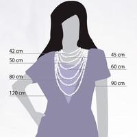 Halskette Collier Slim Ball 50+5cm silber