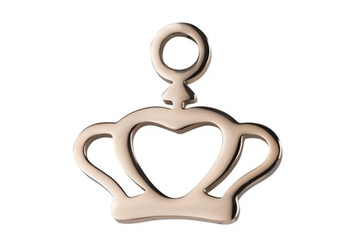Kettenanhänger Charm Crown rosegold