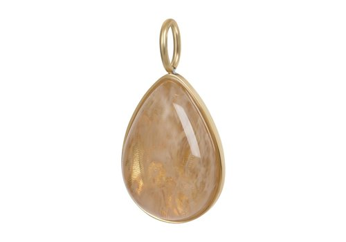 Kettenanhänger Charm Royal Stone Drop Topaz gold