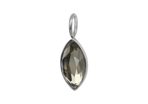 Kettenanhänger Charm Royal Diamond Crystal silber