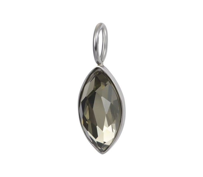 Kettenanhänger Charm Royal Diamond Crystal silberharm Royal Diamond Champagne rosegold - Copy