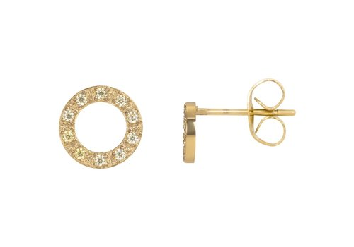 Ohrstecker Circle Stone 10mm gold