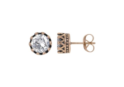 Ohrstecker Crown rosegold