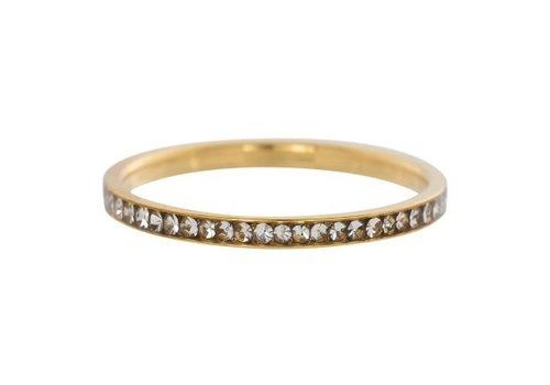 iXXXi Füllring 2 mm Zirconia Crystal gold - XS