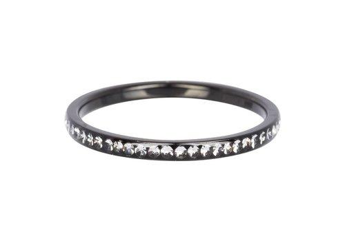 iXXXi Füllring 2 mm Zirconia Crystal schwarz - XS