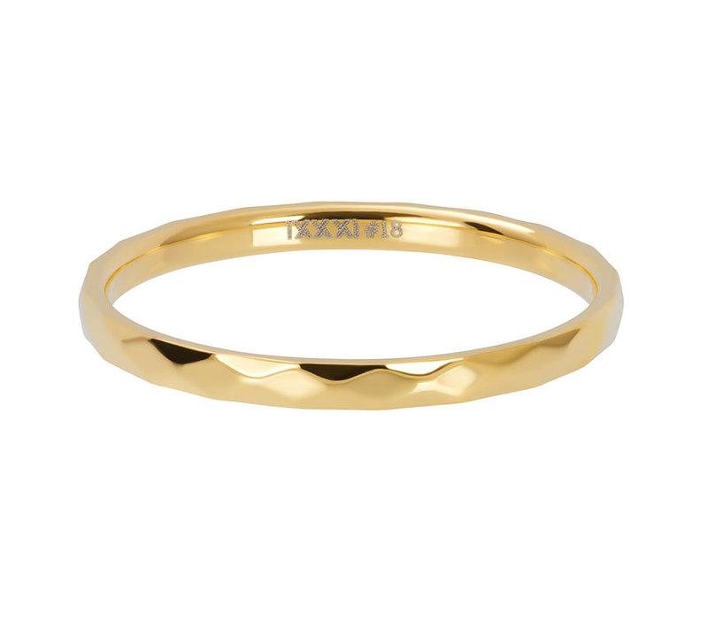 iXXXi Füllring 2 mm Hammerite gold
