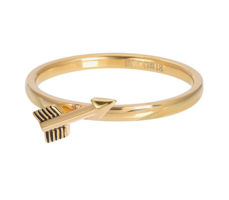 Füllring 2 mm Symbol Arrow gold