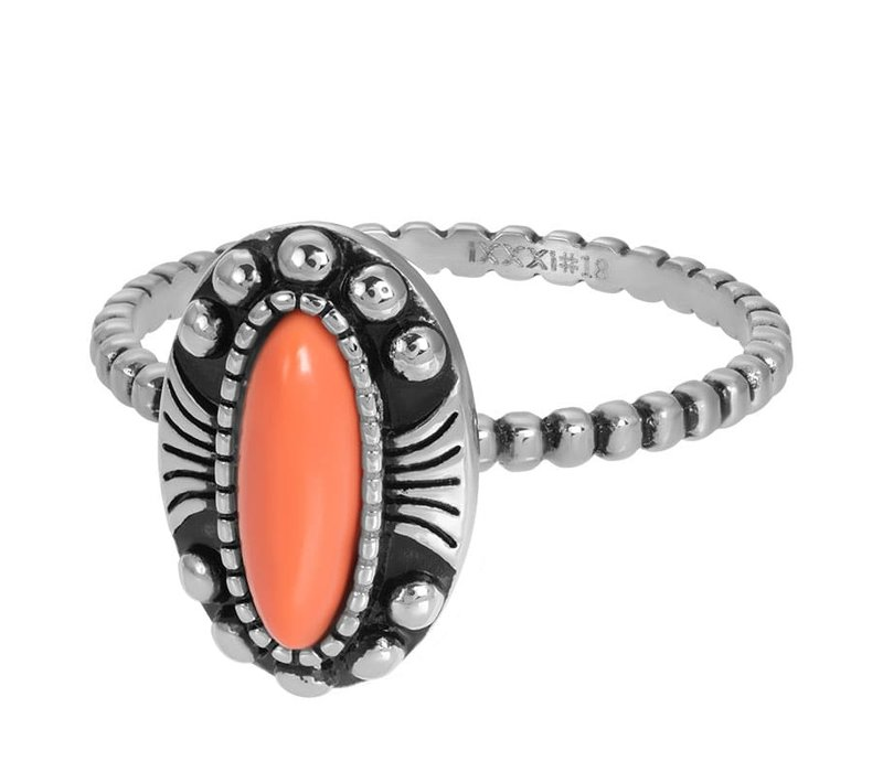Füllring 2 mm Indian Coral silber