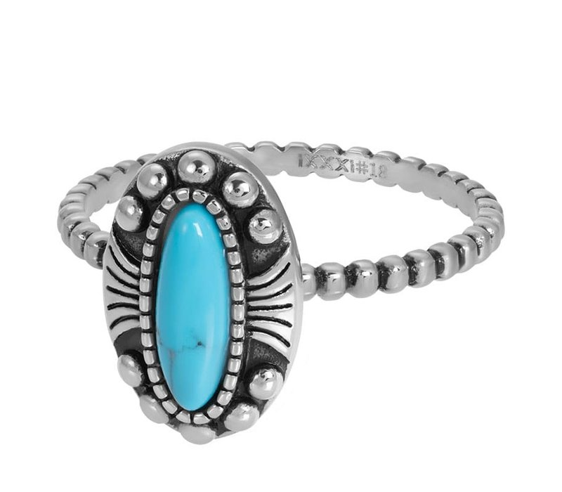 Füllring 2 mm Indian Turquoise silber