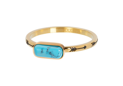 Füllring 2 mm Festival Turquoise gold