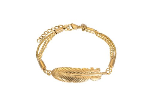 Armband Feather gold