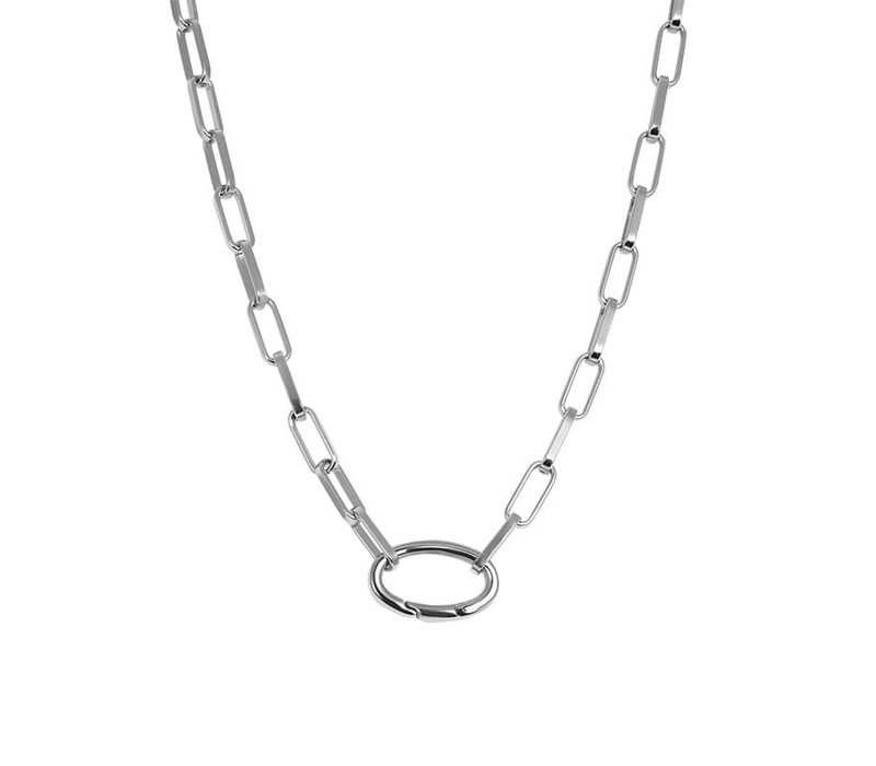 Halskette Square Chain silber