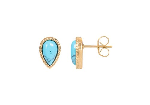 Ohrstecker Magic Turquoise gold