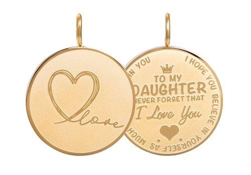 Kettenanhänger Daughter Love Big gold