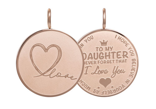 Kettenanhänger Daughter Love Big rosegold