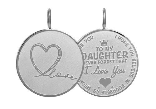 Kettenanhänger Daughter Love Big silber