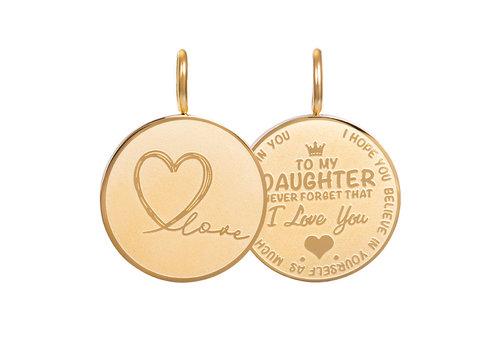 Kettenanhänger Daughter Love Small gold