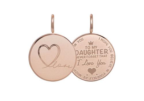 Kettenanhänger Daughter Love Small rosegold