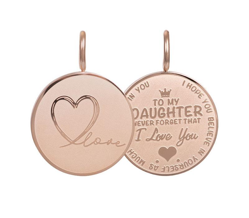 Kettenanhänger Daughter Love Small silber