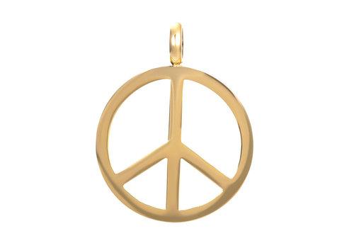 Kettenanhänger Peace gold