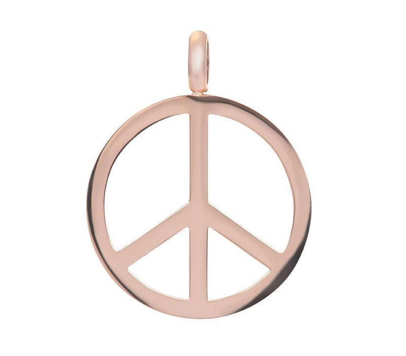 Kettenanhänger Peace rosegold