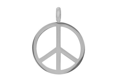 Kettenanhänger Peace silber