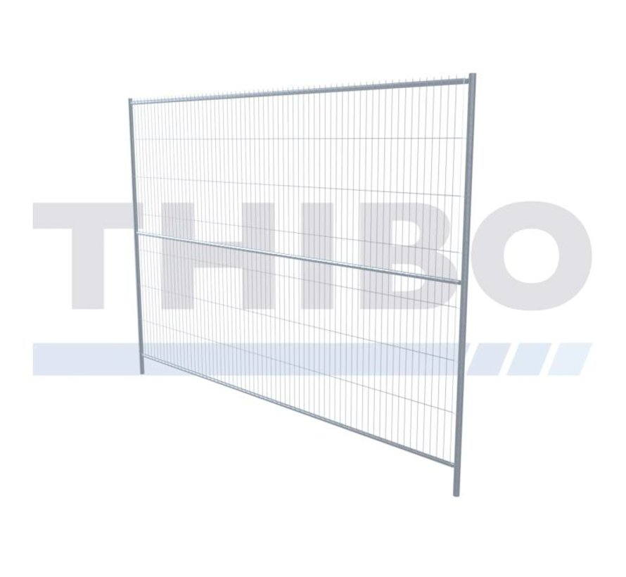 Pré galvanized mobile fence - 2,5 meters high, type Apollo 5, with horizontal center tube