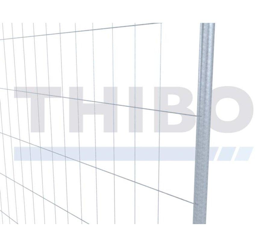 Pré galvanized mobile fence, type Apollo 3 - light, Round Top
