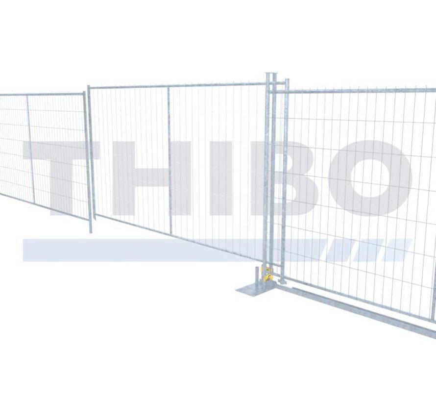 Sliding gate set, manually operated