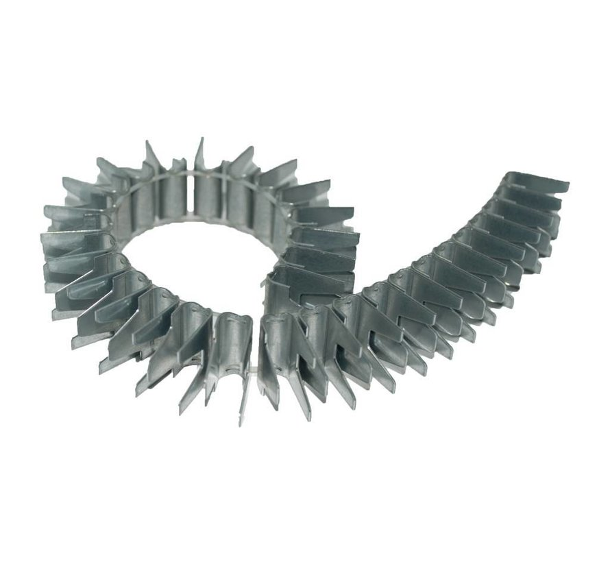 Stainless steel vertex mounting clips for gabions or welden mesh panels