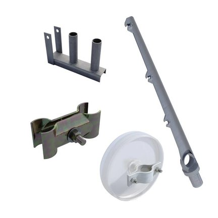 Mobile fence accessories