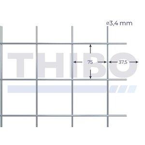 Mesh panel 3600x2100 mm - 75x75x3,4 mm
