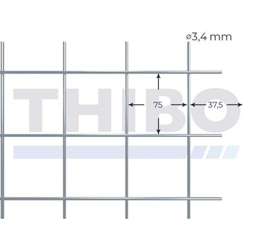Thibo Mesh panel 3600x2100 mm - 75x75x3,4 mm