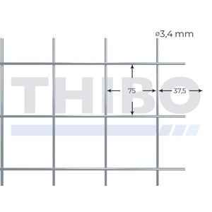 Stahlmat 2550x2000 mm - 75x75x3,4 mm