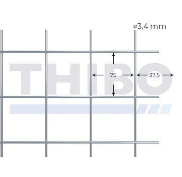 Gaaspaneel 2550x2000 mm - 75x75x3,4 mm