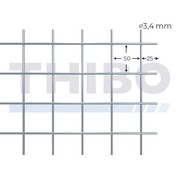 Thibo Mesh panel 2500x2000 mm - 50x50x3,4 mm