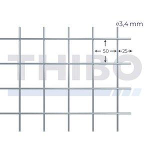 Mesh panel 2500x2000 mm - 50x50x3,4 mm