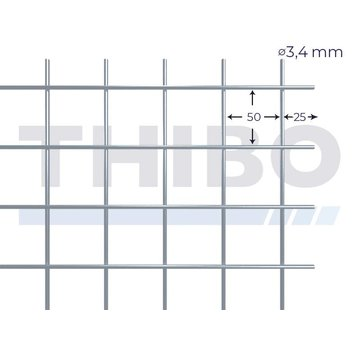 Thibo Gaaspaneel 2,5 x 2  meter - 50 x 50 x 3,4 mm