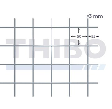Thibo Mesh panel 2500x2000 mm - 50x50x3,0 mm