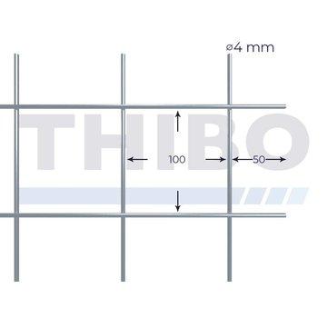 Thibo Stahlmat 2100x2100 mm - 100x100x4,0 mm