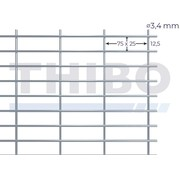 Thibo Mesh panel 2500x2000 mm - 75x25x3,4 mm