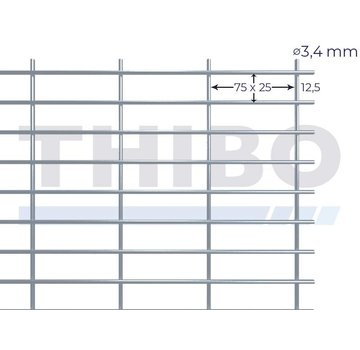 Thibo Stahlmat 2500x2000 mm - 75x25x3,4 mm