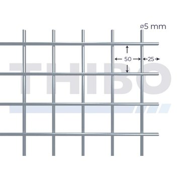 Thibo Gaaspaneel 2 x 1 meter - 50 x 50 x 5,0 mm