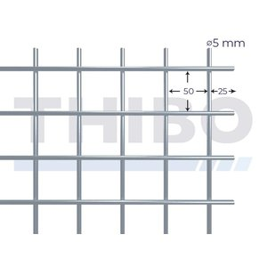 Mesh panel 5000x2000 mm - 50x50x5,0 mm