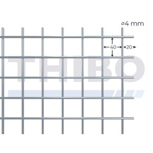 Mesh panel 5000x2000 mm - 40x40x4,0 mm