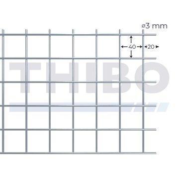 Thibo Mesh panel 3000x1500 mm - 40x40x3,0 mm