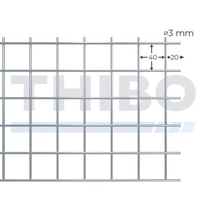 Mesh panel 3000x1000 mm - 40x40x3,0 mm