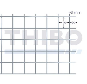 Thibo Stahlmat 3000x1000 mm - 40x40x3,0 mm