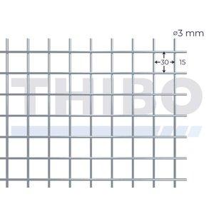 Mesh panel 2000x1250 mm - 30x30x3,0 mm